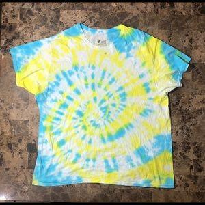 Hanes Vintage T Shirt Tye Dye Mens 2XL Shirt